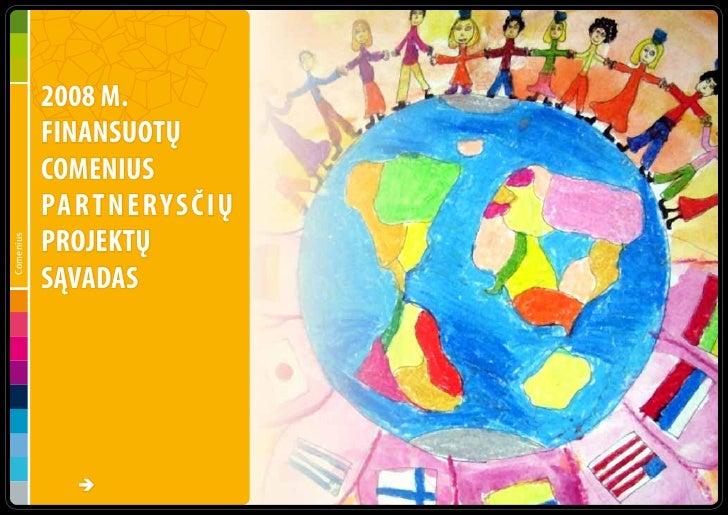 2008 m. finansuotų Comenius mokymosi partnerysčių sąvadas