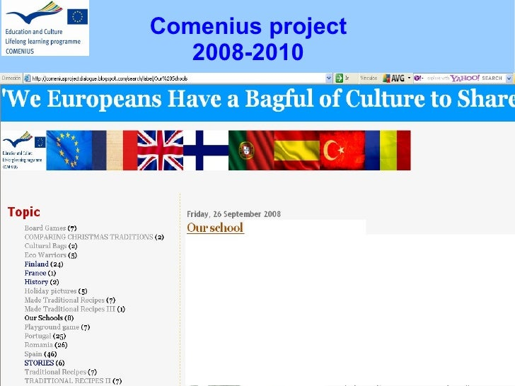 Comenius project 2008-2010