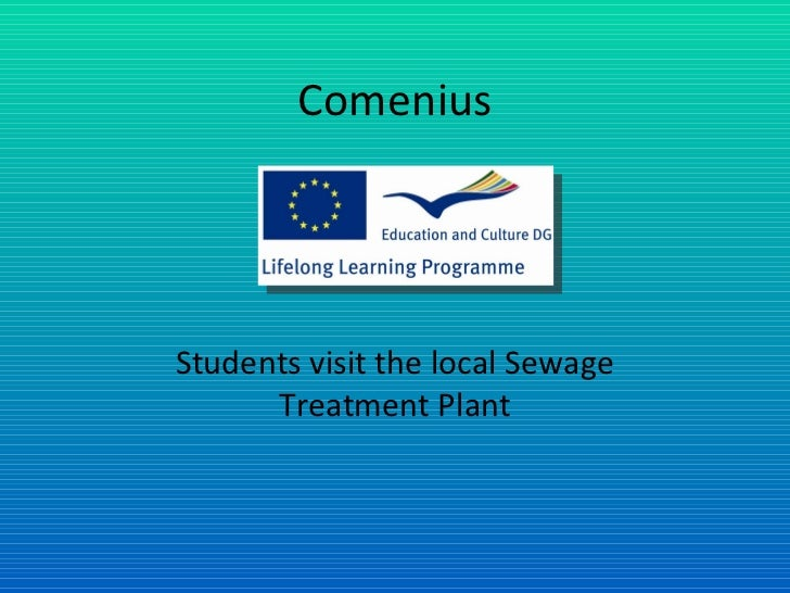 Comenius Students visit the local Sewage Treatment Plant
