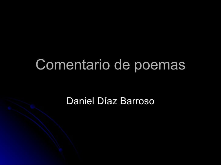 Comentario de poemas Daniel Díaz Barroso