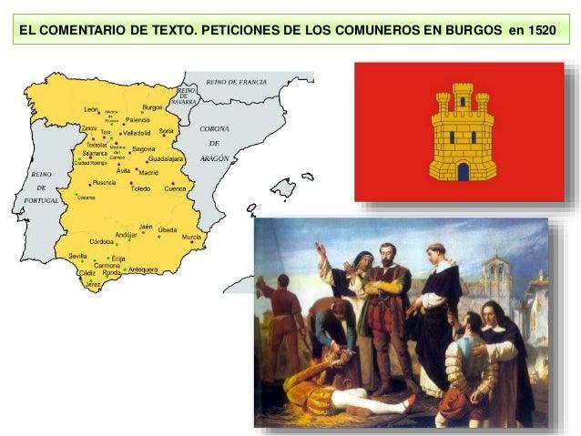 EL COMENTARIO DE TEXTO. PETICIONES DE LOS COMUNEROS EN BURGOS en 1520
