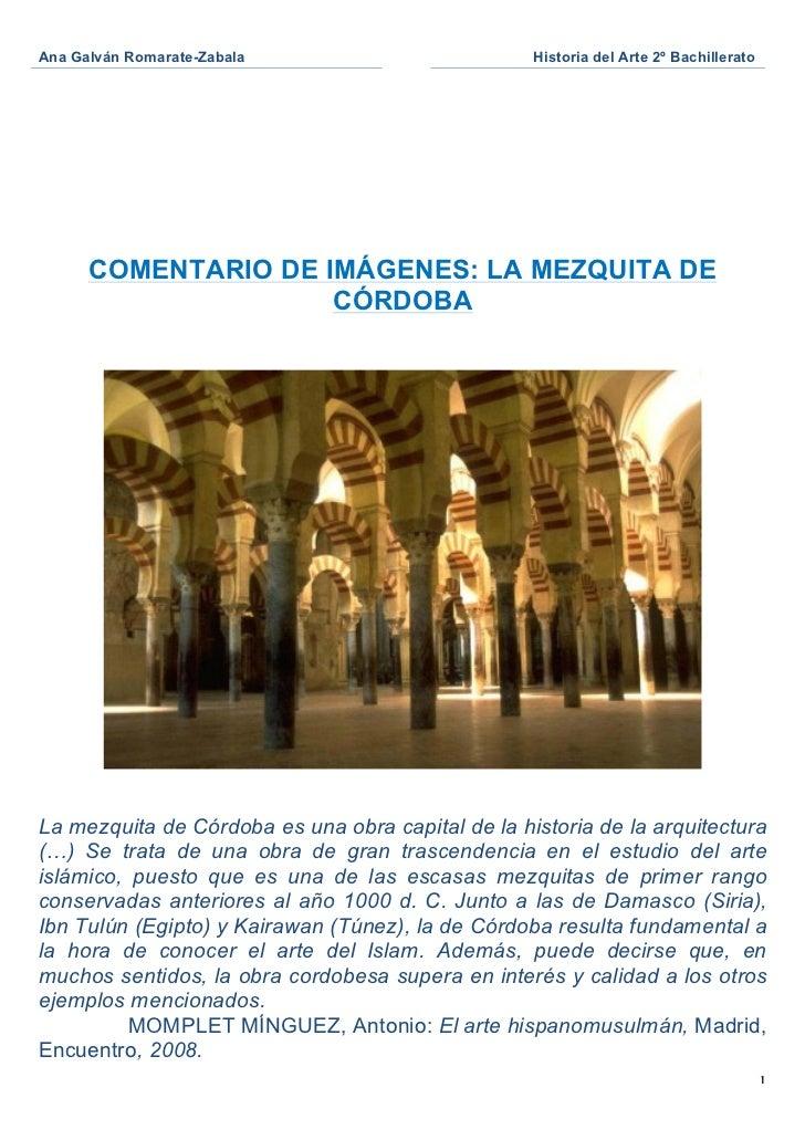 Comentario mezquita de córdoba