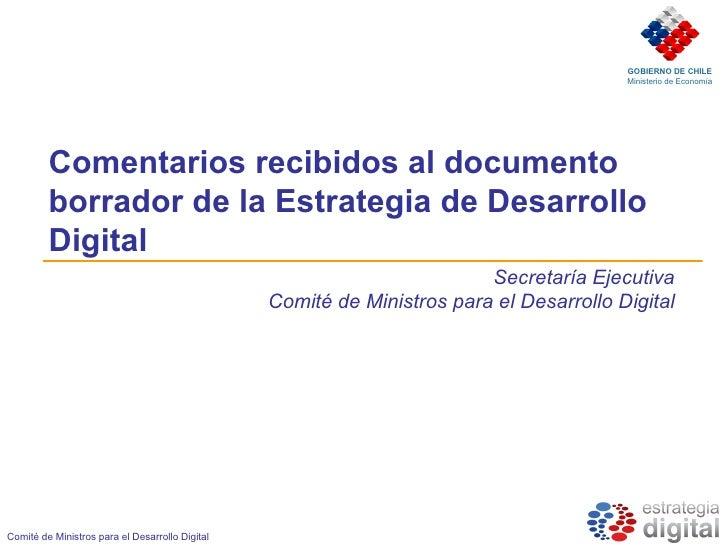 GOBIERNO DE CHILE                                                                                          Ministerio de E...