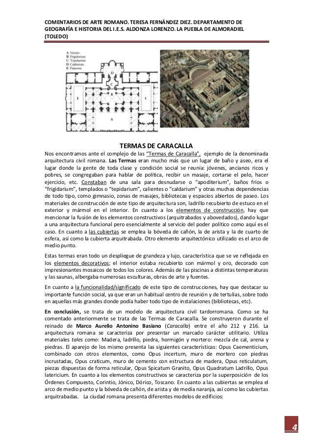 Baños Romanos Toledo:Comentarios de arte romano