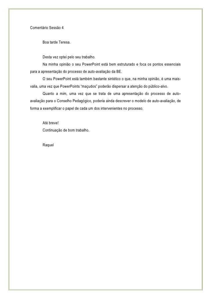 ComentáRio SessãO 4