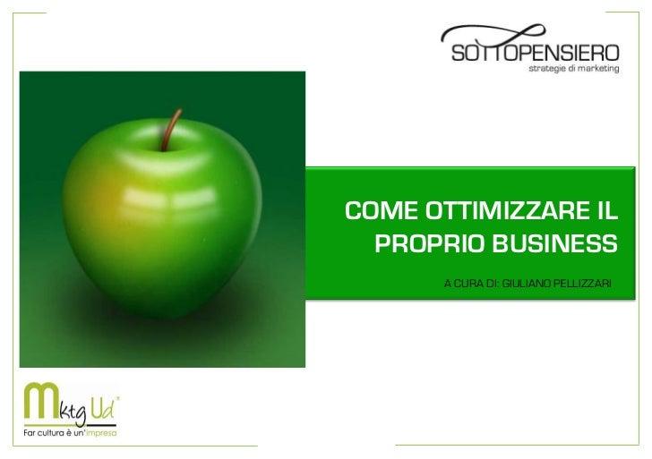 Come ottimizzare il proprio business
