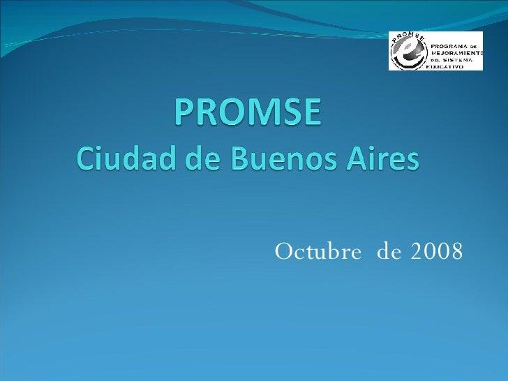 Octubre  de 2008