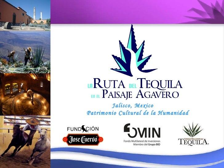 2do Taller DEL. Marca territorial-Ruta del Tequila. Martha Venegas