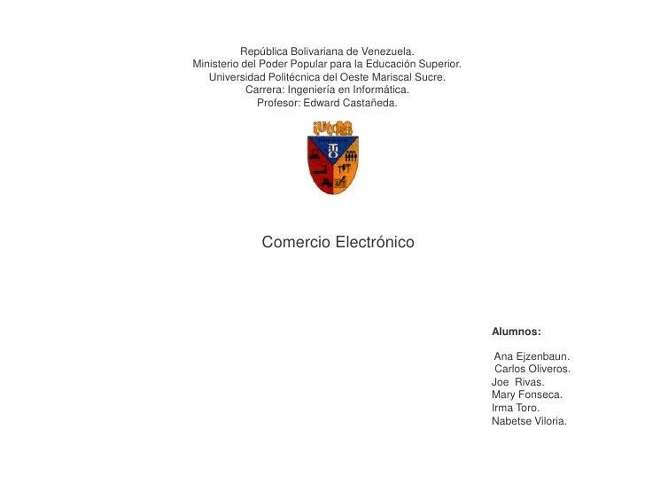 República Bolivariana de Venezuela.<br />Ministerio del Poder Popular para la Educación Superior.<br />Universidad Politéc...