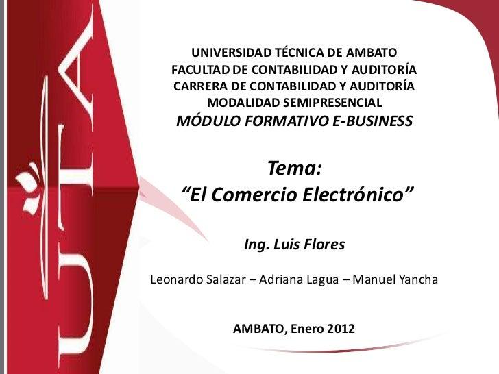 UNIVERSIDAD TÉCNICA DE AMBATO   FACULTAD DE CONTABILIDAD Y AUDITORÍA   CARRERA DE CONTABILIDAD Y AUDITORÍA        MODALIDA...