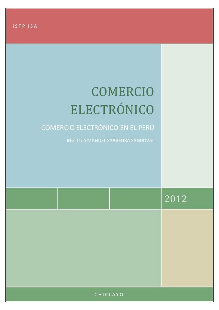 ISTP ISA                     COMERCIO                  ELECTRÓNICO           COMERCIO ELECTRÓNICO EN EL PERÚ              ...