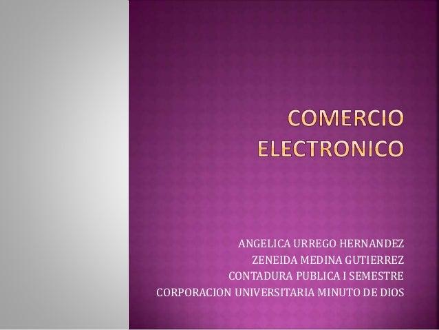 ANGELICA URREGO HERNANDEZ ZENEIDA MEDINA GUTIERREZ CONTADURA PUBLICA I SEMESTRE CORPORACION UNIVERSITARIA MINUTO DE DIOS