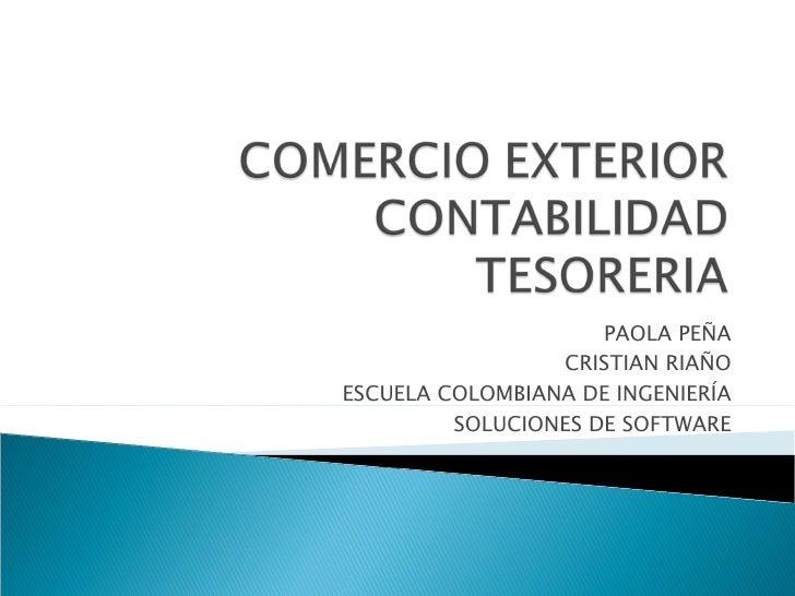 comercio exterior contabilidad tesoreria
