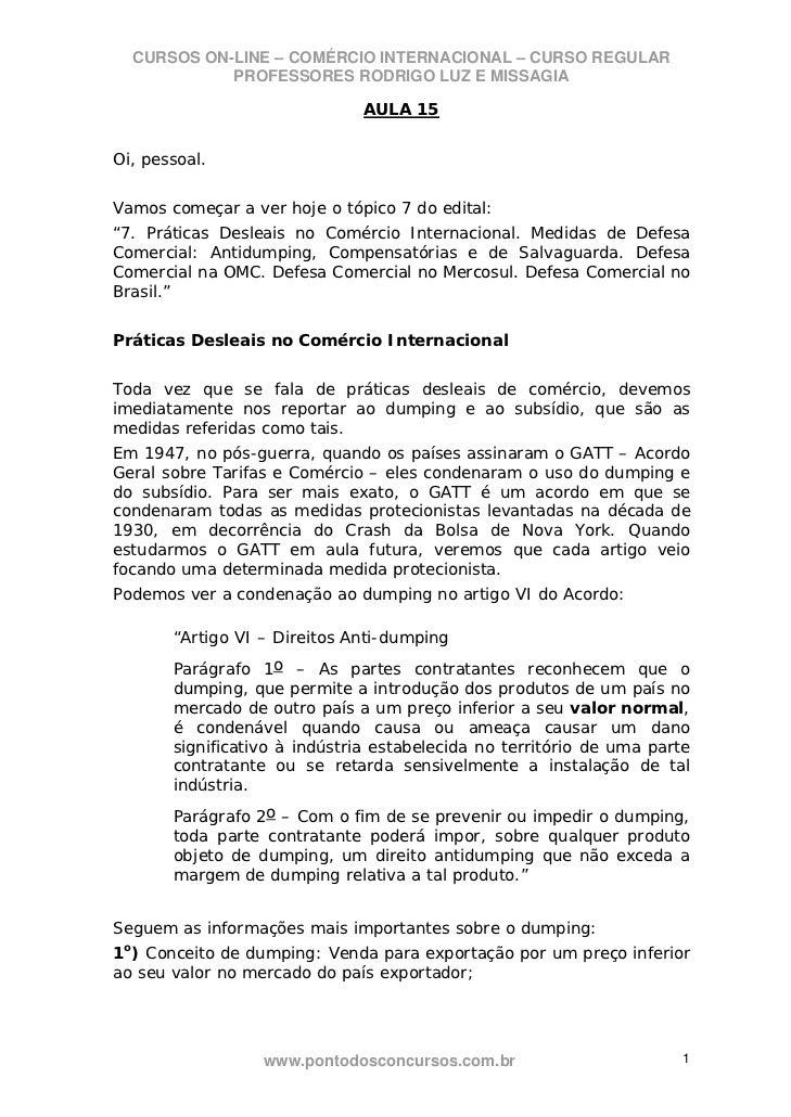 Comercio internacional regular 15