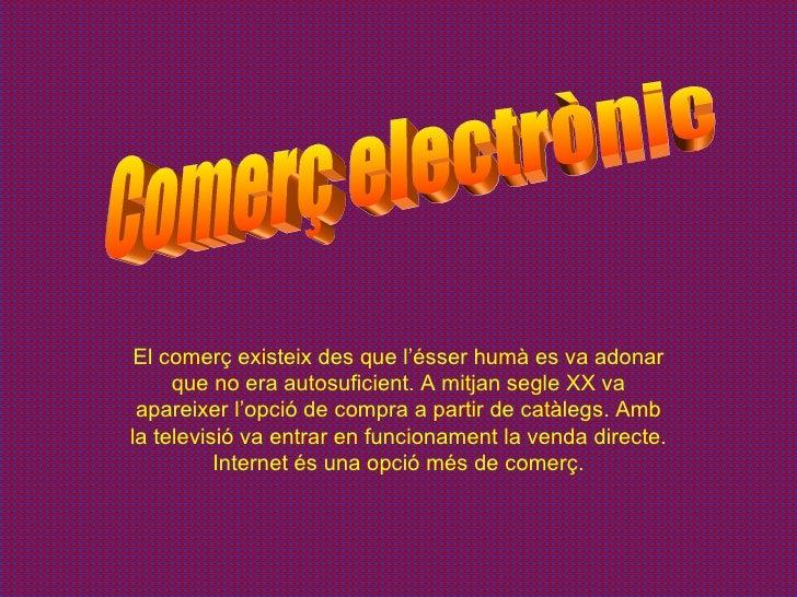 Comerç electrònic