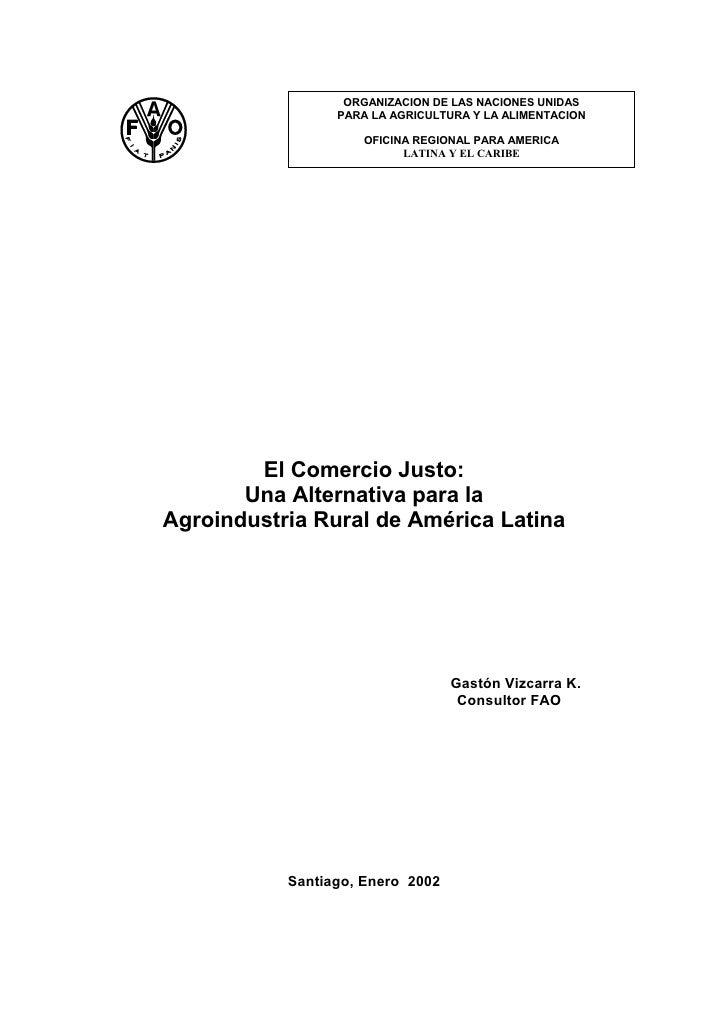 ORGANIZACION DE LAS NACIONES UNIDAS                  PARA LA AGRICULTURA Y LA ALIMENTACION                      OFICINA RE...