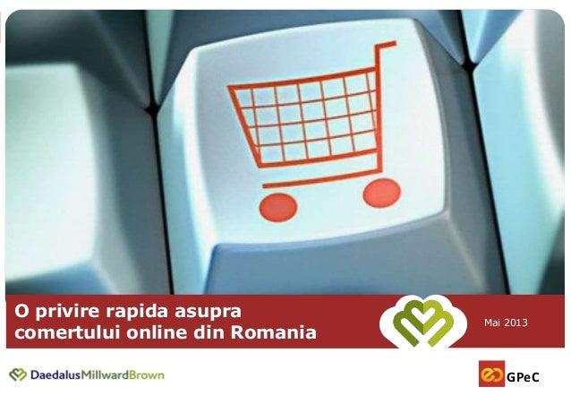 Vocea cumparatorului online - Comertul online romanesc, quick facts - Daniel Enescu, CNEC, 27 mai 2013