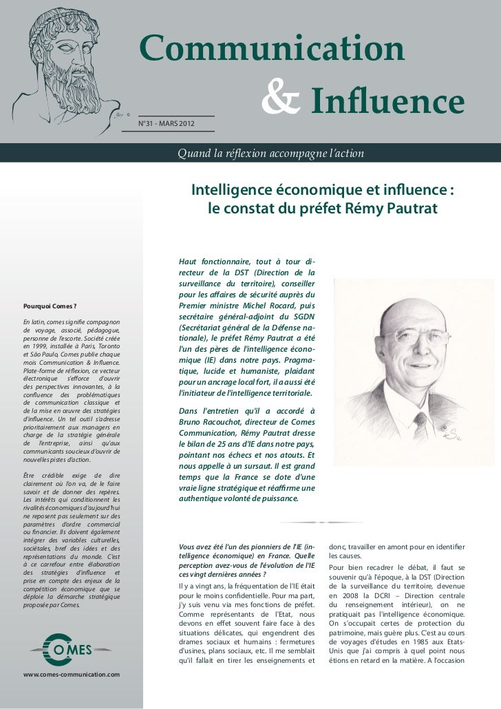Communication                                       	 	 	 	 & Influence                                       N°31 - MARS ...