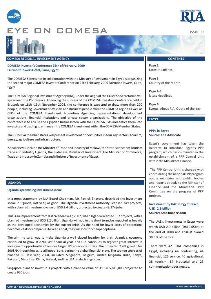 Comesaria Newsletter feb09