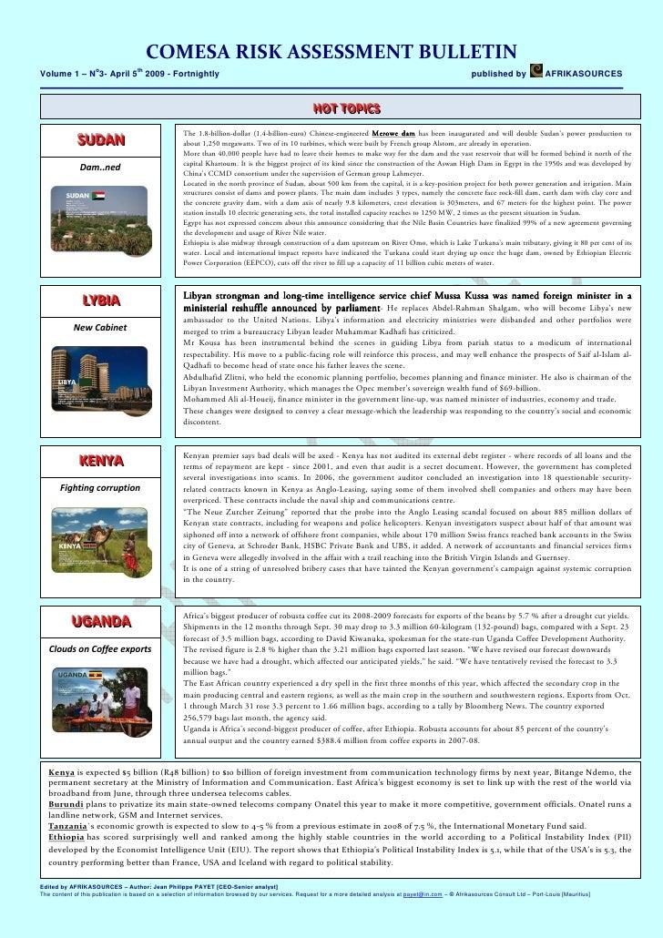 Comesa Risk Bulletin 03