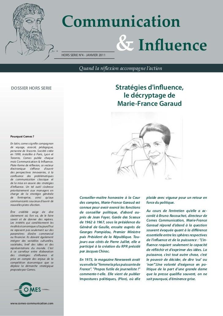Communication                                        & Influence                                       HORS SERIE N°4 ...