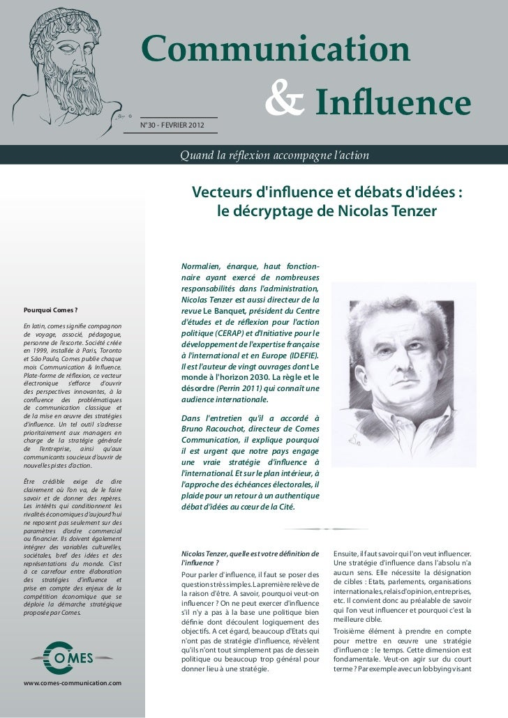 Communication                                       	 	 	 	 & Influence                                       N°30 - FEVRI...