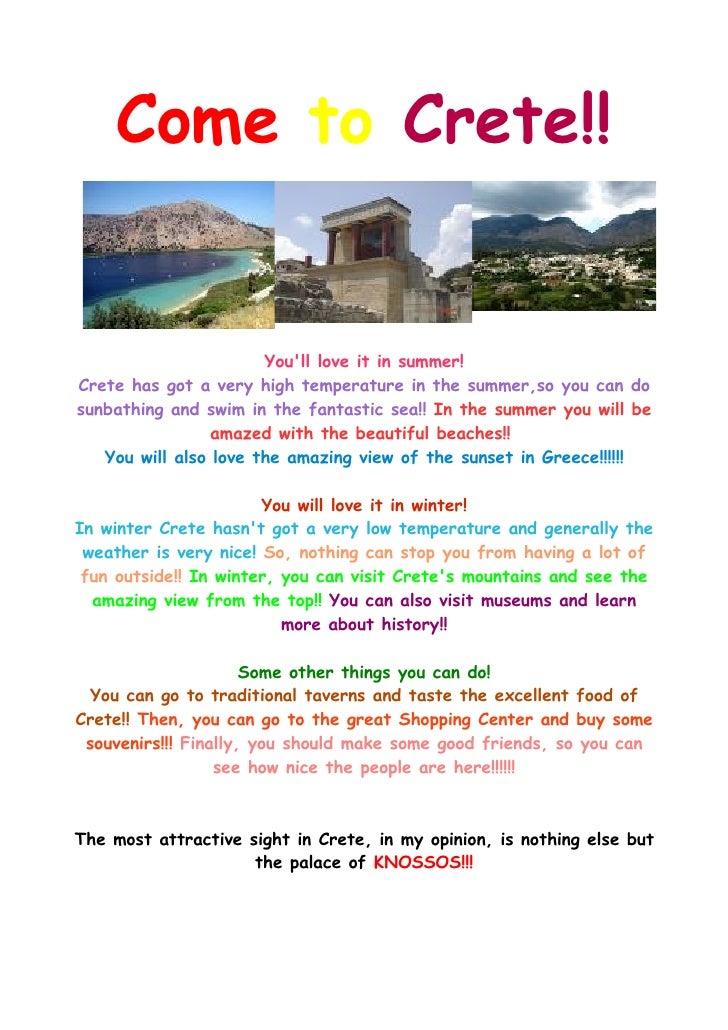 'Come To Crete' project by Anna Minadaki