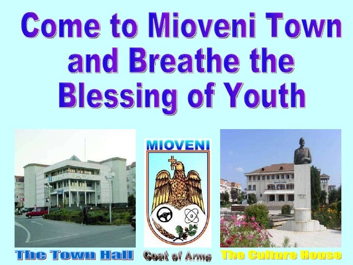 Come to Mioveni Town and Breathe the Blessing of Youth The Town Hall Coat of Arms The Culture House