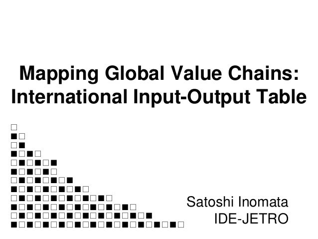 Mapping Global Value Chains: International Input-Output Table