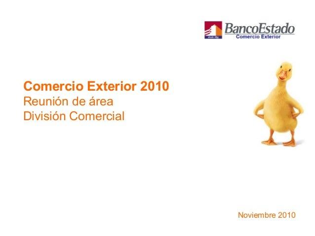 Comercio Exterior 2010 Reunión de área División Comercial Noviembre 2010