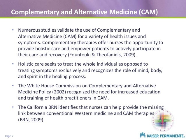 comparing alternative and complementary medicines