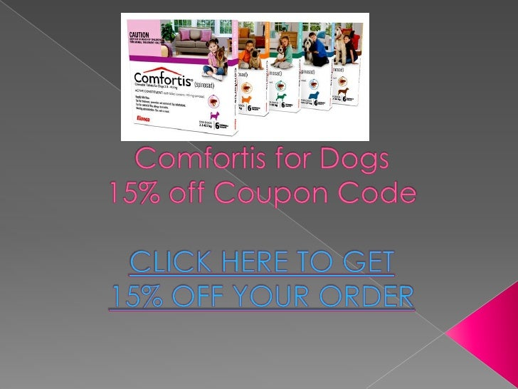 Comfortis is a chewable beef-flavored tablet that kills fleas and prevents furtherinfestation for an entire month. Comfort...