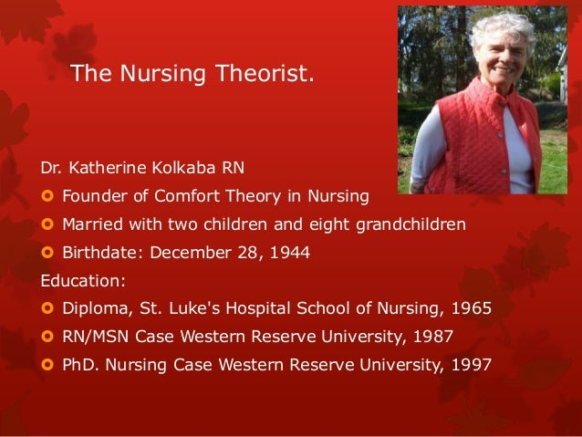 comfort theory and its application to pediatric nursing