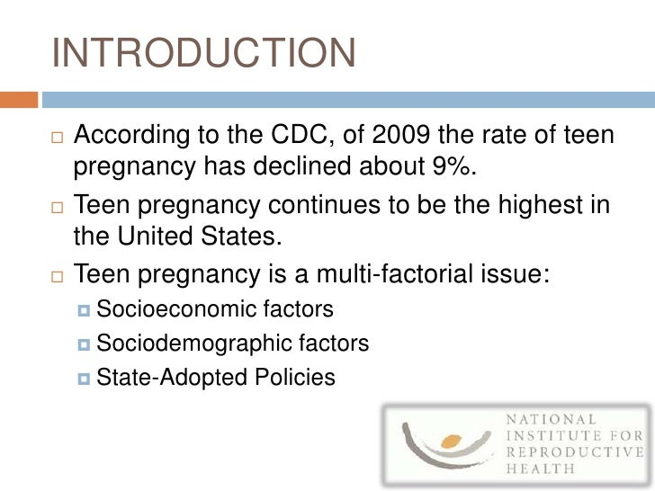 Teenage Pregnancy Research Proposal Paper
