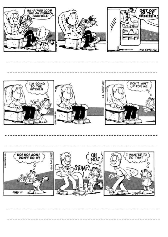 Comic garfield reported speech