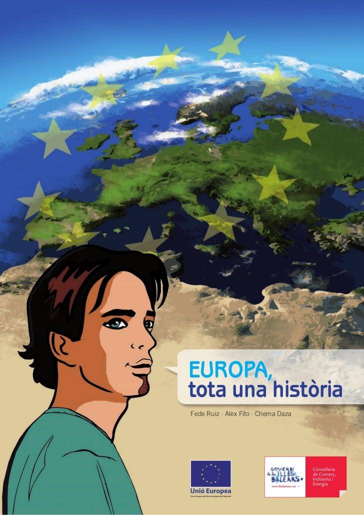 """Cómic """"EUROPA, tota una història"""" para el Govern de les Illes Balears"""