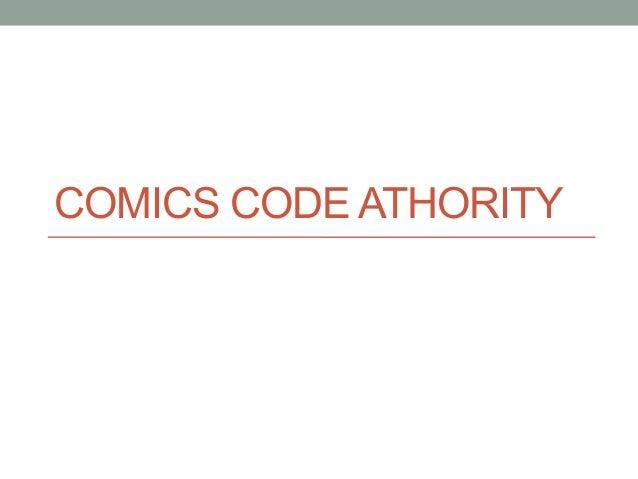 COMICS CODE ATHORITY