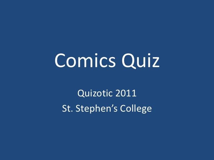 Comics quiz