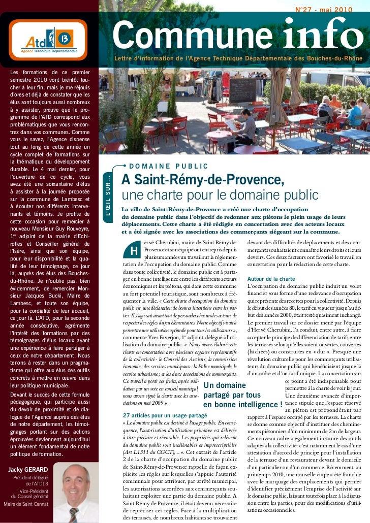 n°27 - mai 2010                                                                commune info                               ...