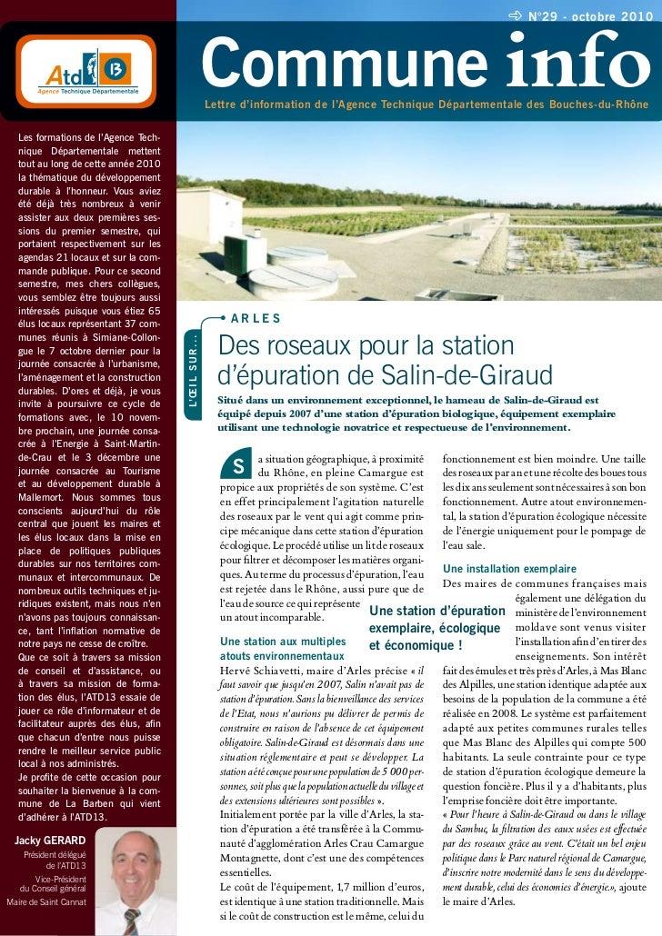 N°29 - octobre 2010                                                               Commune info                            ...