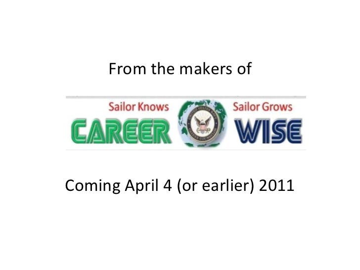 Coming April 4 (or earlier) 2011 From the makers of