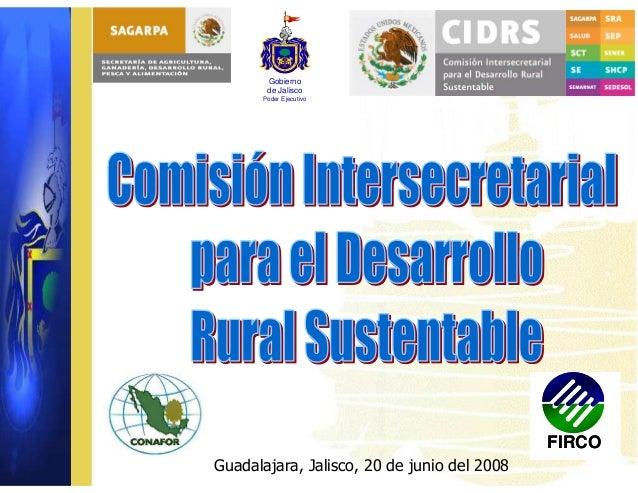 Comisión Intersecretarial, Jalisco, México