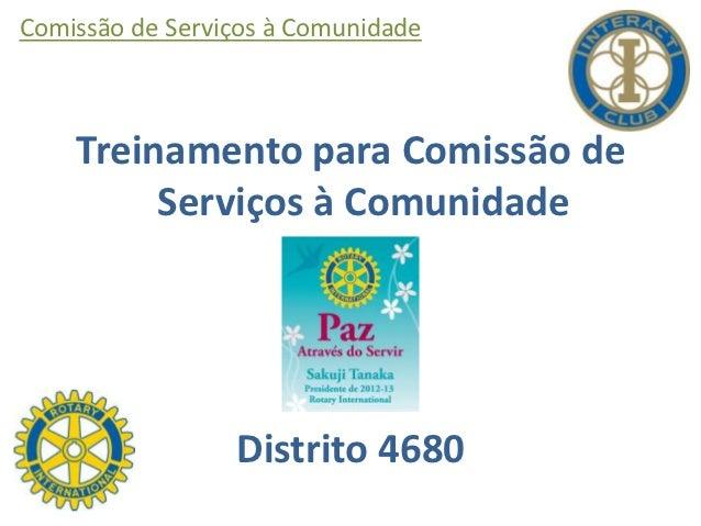 Treinamento para Comissão de Serviços à Comunidade de Interact Club