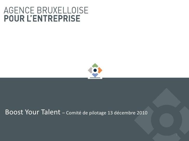 Comité de pilotage Boost your talent 2010-2011/3