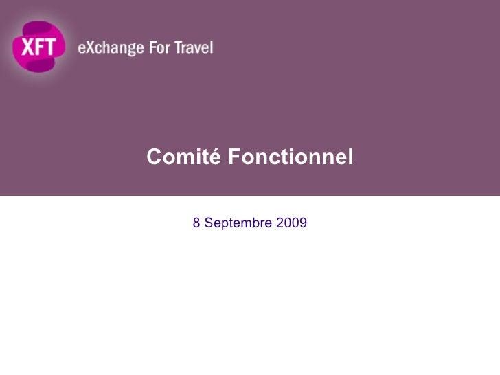Comité Fonctionnel 8 Septembre 2009