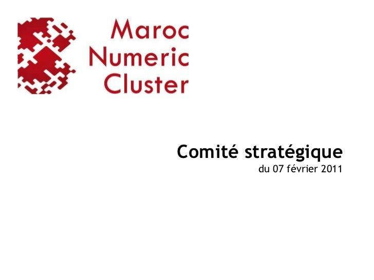 Comité stratégique        du 07 février 2011                             1