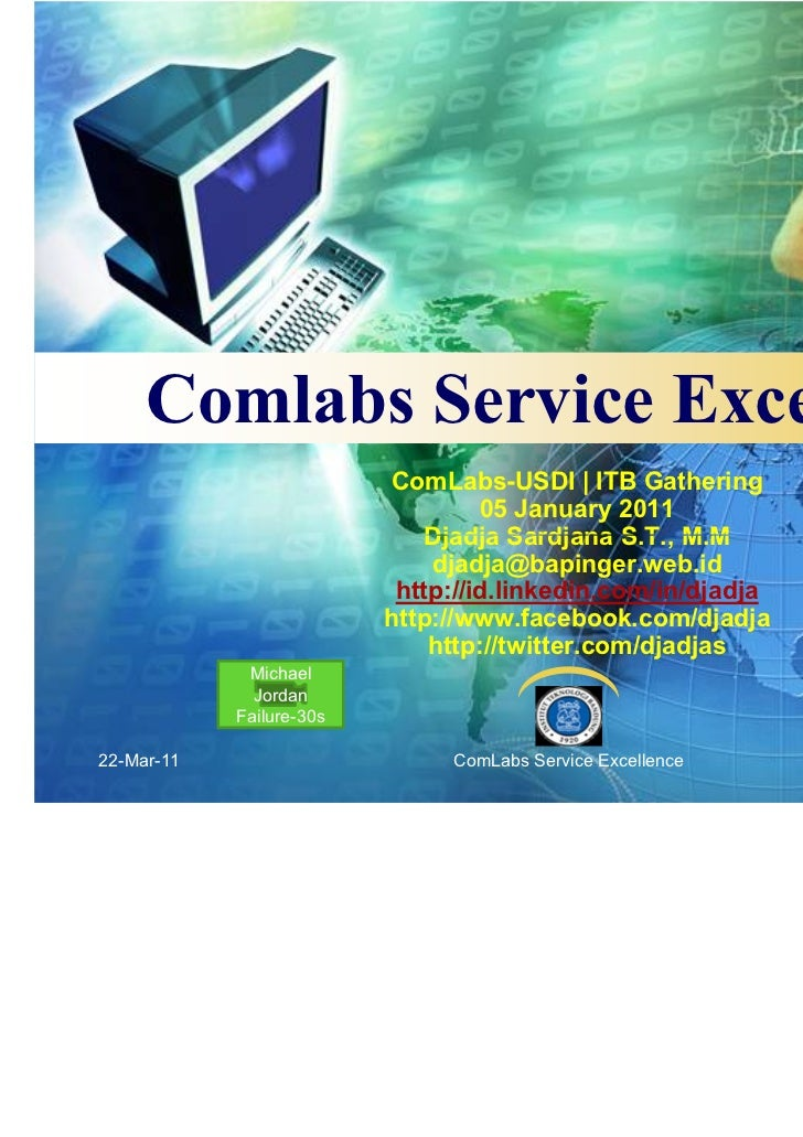 Comlabs-ITB Service Excellence for Institution or Company