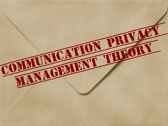 Communication Privacy Management Theory
