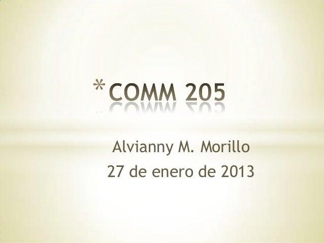 * Alvianny M. Morillo 27 de enero de 2013