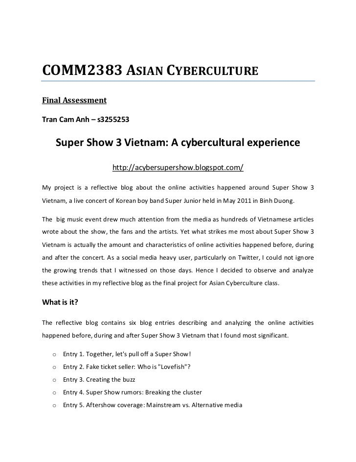 Tran Cam Anh - A Cyber Super Show - Exegesis